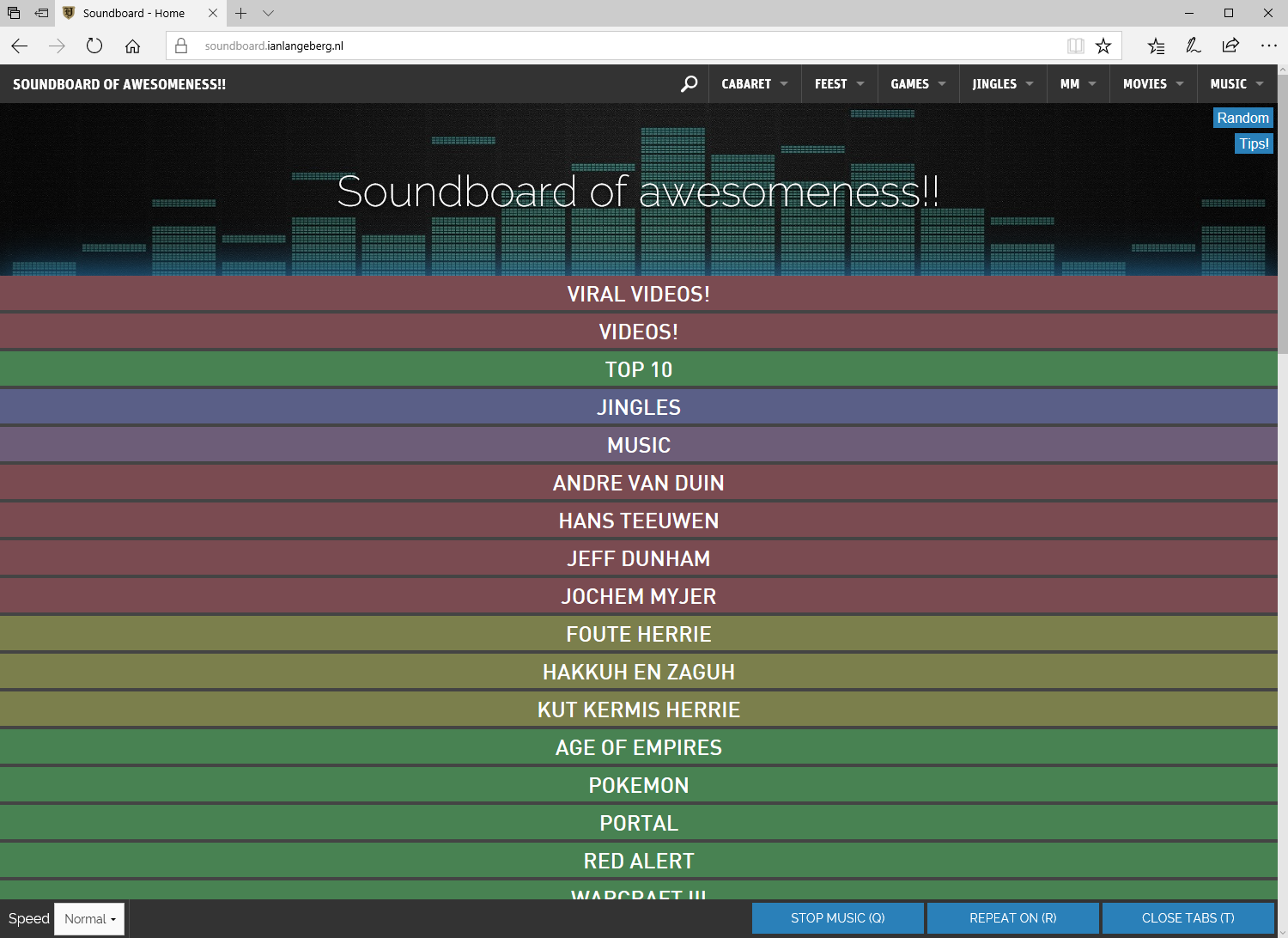 Soundboard of awesomeness!
